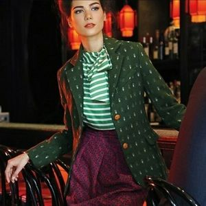  ANTHRO  Forested Green Blazer